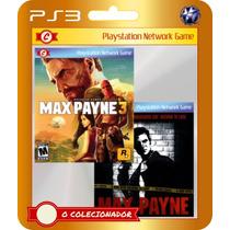 Max Payne 3 + Max Payne 1 (código Ps3) - Envio Rápido!