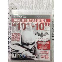 Batman Arkham Asylum + Arkham City Ps3 (dublado) - Ps3