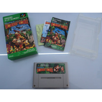 Donkey Kong Country Caixa E Manual - Super Nintendo/famicom