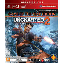 Uncharted 2 Among Thieves Ps3 Novo Mídia Física Original