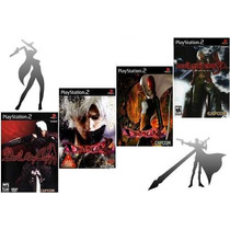 Kit 4 Games Devil May Cry Ps2 Patch - Frete Só 6,00
