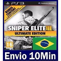 Sniper Elite 3 Ultimate Edition Ps3 Código Psn Legendas Br