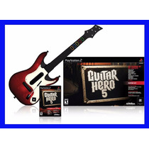 Guitar Hero 5 Ps2 E Guitarra Playstation 2 Original