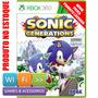 Sonic Generations Xbox 360 Mídia Física Original Lacrado