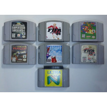 Jogos Nintendo 64 Lote Com 6 Jogos E 1 Cartucho Adaptador