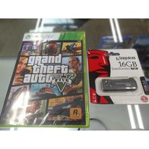 Gta V Xbox 360 Novo Lacrado Com Pendrive 16 Frete Grátis