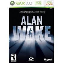 Alan Wake Jogo Xbox 360 Original Lacrado