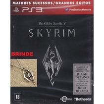 Skyrim Ps3 The Elder Scrolls + Brinde - Frete Fixo R$ 8,00