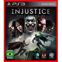 Injustice Gods Among Us Ps3 Psn Midia Digital Portugues Br
