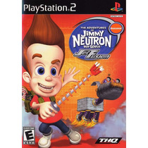 Jogo Of Jimmy Neutron Boy Genius Jet Fusion Para Ps2 A6806