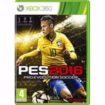 Pes 2016 Xbox360 Pro Evolution Soccer Português + Nf + Frete