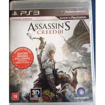 Ps3 - Assassins Creed 3 - 100% Legendado Em Português