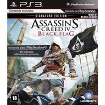 Assassins Creed 4 Black Flag Iv Signature Ed. Em Pt-br + Dlc