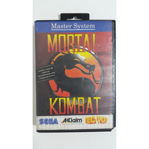 Cartucho Mortal Kombat C/ Caixa Master System Fita Jogo