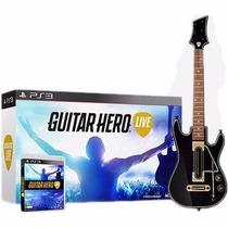 Guitar Hero Live Bundle - Ps3 Lacrado, Jogo + Guitarra