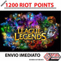 League Of Legends- Lol - 1200 Riot Points - Envio Imediato.