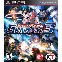 Jogo Lacrado Dynasty Warriors Gundam 3 Para Playstation 3