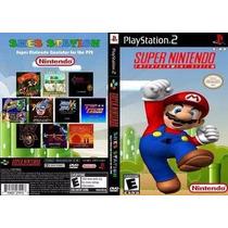 Mario Play Station 2 Patch Coleção Snes Super Nintendo Ps2.