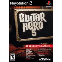 Jogo Guitar Hero 5 Ps2 Playstation 2 Original Lacrado A6831