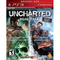 Uncharted 1,2 Dual Pack Ps3 Codigo Psn Receba Hoje
