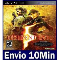 Resident Evil 5 Gold Edition Digital Ps3 Código Psn