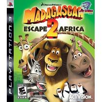 Jogo Ps3 - Madagascar 2 Escape To Africa - Usado