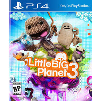 Little Big Planet 3 Jogo Ps4 Original Lacrado