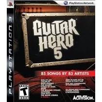 Jogo Guitar Hero 5 - Ps3 - Midia Física
