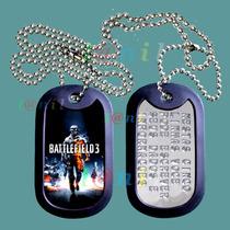 Dog Tag Estilizado - Battlefield 3 Com 51 Opções De Imagens