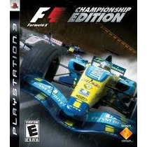 Formula 1 Championship Edition Jogo Ps3 Usado