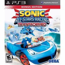 Jogo Para Ps3 Sonic All Star Racing Original Lacrado