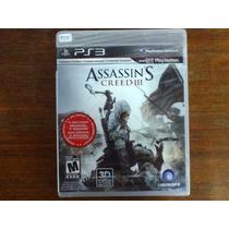 Assasins Creed Iii 3d Lacrado Original -foto Real Do Produto