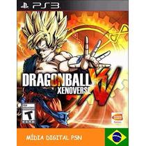 Jogo Dragon Ball Z Xenoverse Psn - Midia Digital - Game Ps3