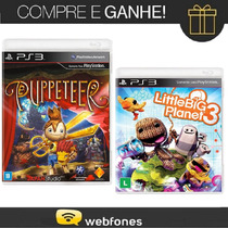 Combo Ps3 Puppeteer + Little Big 3 Planet