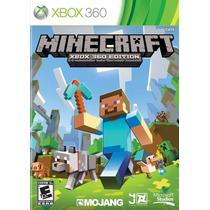 Minecraft Xbox 360 Midia Fisica Original + Nf + Frete Gratis