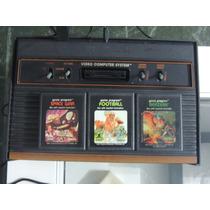03 Cartuchos De Atari 2600: Berzerk, Space War, Football