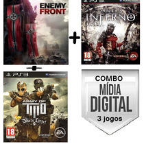 Combo Enemy Front + Army Of Two + Dante`s Inferno - Cod Psn