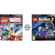 Jogo Lego Marvel Super Heroes & Batman 3 Psn - Loja Oficial