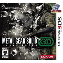 Jogo 3ds - Metal Gear Solid Snake Eater - Novo