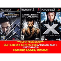 X-men Origins Wolverine Playstation 2 (kit 3 Jogos Ps2