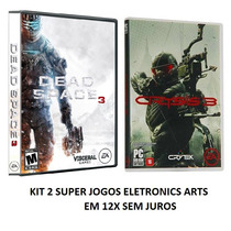 Jogo Dead Space 3 + Crysis 3 - Pc Dvd Box - Original Lacrado