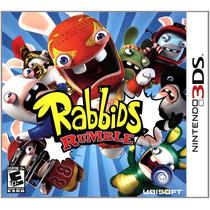 Jogo Game Rabbids Rumble Nintendo 3ds Lacrado P. Entrega