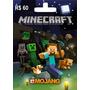 Minecraft ( Pc ) Cartao De Ativação Original...envio Na Hora