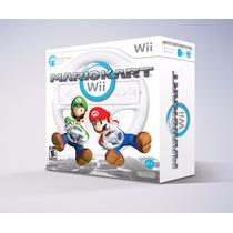 Mario Kart Wii Bundle Com Volante - Wii U - Original/lacrado