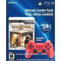 Kit God Of War Com 2 Jogos Em 1 Cd + Controle Original Ps3