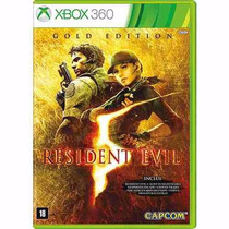 Game Resident Evil 5: Gold Edition Xbox 360 Midia Fisica.