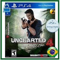 Uncharted 4 Pre-venda Ps4 Psn Digital Primária Dublado Ptbr