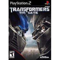 Transformers The Game Ps2 Patch Com Capa E Impressão