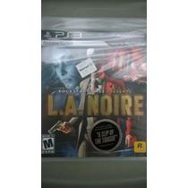 Jogo Playstation 3 Ps3 La Noire L.a. Noire Novo E Lacrado!