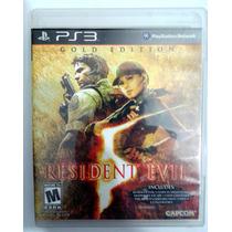 Ps3 - Resident Evil 5 Gold Edition ( Raro) Mídia Física